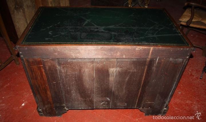 Antigüedades: MESA ESCRITORIO. MADERA DE CAOBA. ESTILO REINA ANA. INGLATERRA. SIGLO XVIII/XIX. - Foto 17 - 60850743