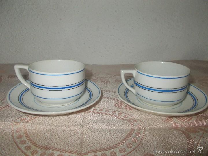 PAREJA DE TAZAS SANTA CLARA (Antigüedades - Porcelanas y Cerámicas - Santa Clara)