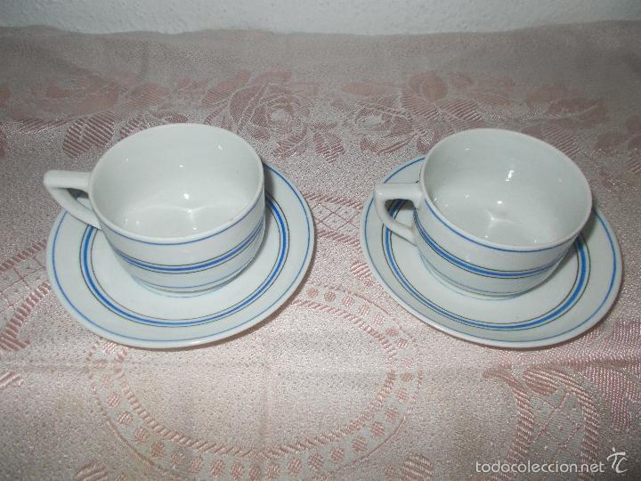 Antigüedades: Pareja de tazas Santa Clara - Foto 2 - 60855371
