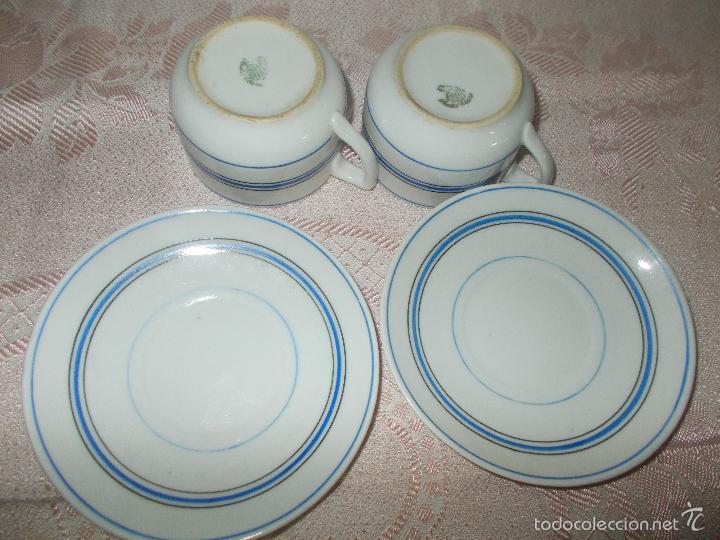 Antigüedades: Pareja de tazas Santa Clara - Foto 3 - 60855371