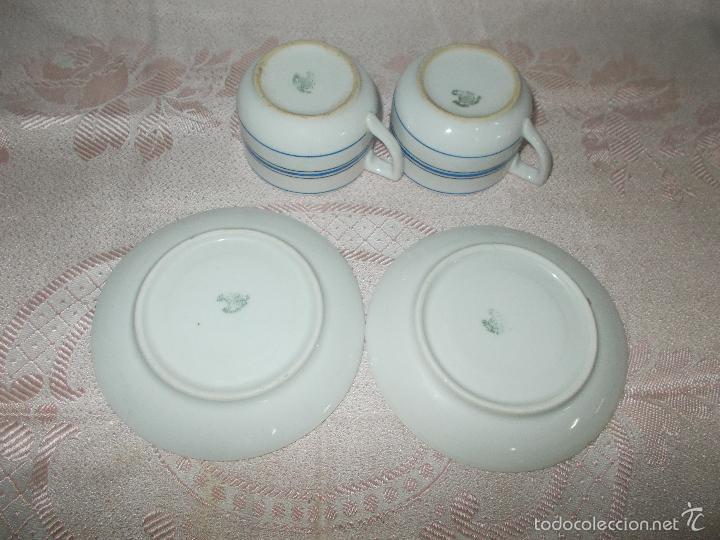 Antigüedades: Pareja de tazas Santa Clara - Foto 4 - 60855371