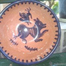 Antigüedades: FUENTE PINTADA A MANO. Lote 60857159