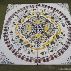 Antigüedades: LOTE DE 4 AZULEJOS ANTIGUOS DE MANISES / VALENCIA. AZULEJO.. Lote 60887511
