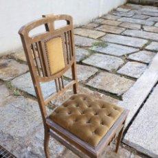 Antigüedades: CUATRO SILLAS EN MADERA DE CEDRO, SIN RESTAURAR. Lote 60890931