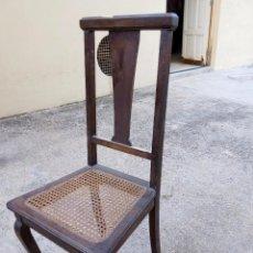 Antigüedades: DOS SILLAS EN MADERA DE CAOBA SIN RESTAURAR, EN BUEN ESTADO - PRECIO UNIDAD. Lote 60891227