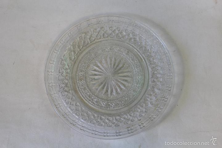 PLATO EN CRISTAL DE SANTA LUCIA - CARTAGENA (Antigüedades - Cristal y Vidrio - Santa Lucía de Cartagena)