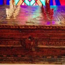 Antigüedades: ARQUETA MUDEJAR XVI TARACEA, DE ESCRIBANO Y DE JUEGO AJEDREZ, 75X30X45. Lote 97675710