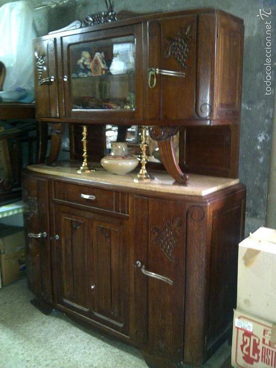 Aparador art deco en roble de 1925 comprar aparadores antiguos en todocoleccion 60882283 - Aparador art deco ...