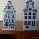 Antigüedades: 2 CASITAS EN PORCELANA DE DELFT,ANTIGUAS.. Lote 60924259