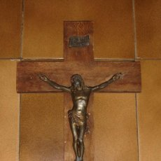 Antigüedades: CRUCIFIJO ANTIGUO MADERA - CRUZ - CRISTO CRUCIFICADO. Lote 60926075