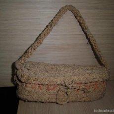 Antigüedades: CESTA DE ESPARTO NUEVA. Lote 60936267