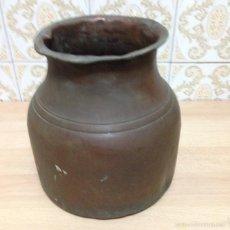 Antigüedades: ANTIGÜA OLLA EN COBRE. Lote 60936323
