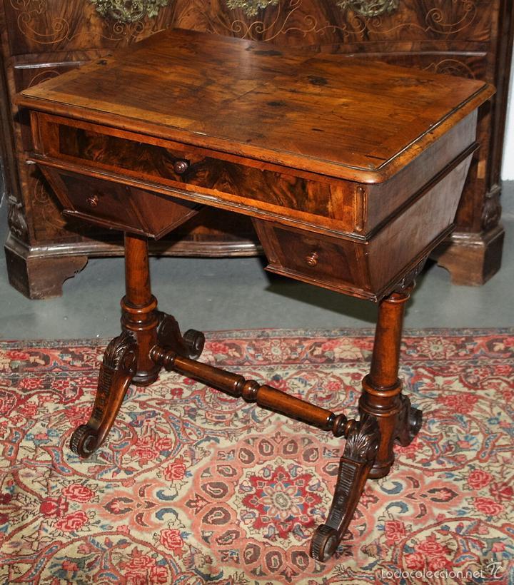 Costurero estilo victoriano en madera de caoba comprar - Muebles siglo xxi ...