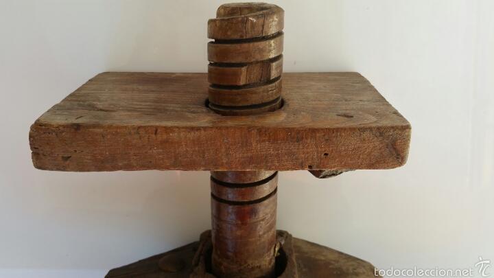 Antigüedades: ANTIGUA PRENSA POSIBLEMENTE VINO. CON TORNILLO SINFIN - Foto 6 - 60939759