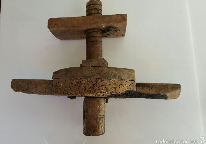 Antigüedades: ANTIGUA PRENSA POSIBLEMENTE VINO. CON TORNILLO SINFIN - Foto 9 - 60939759