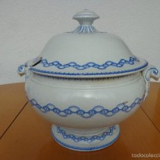 Antigüedades: ANTIGUA SOPERA PICKMAN - LA CARTUJA - FINAL SIGLO XIX -MEDALLA DE ORO. Lote 60995507