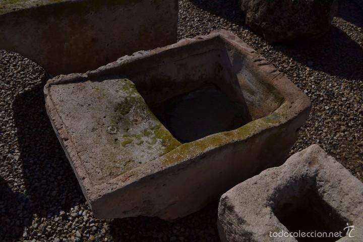 Pila de lavar antigua de piedra natural comprar for Pila de lavar