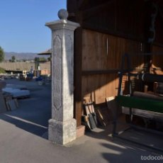 Antigüedades: COLUMNA DE PIEDRA NATURAL BLANCA. Lote 61012687