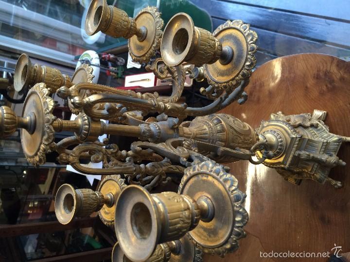 Antigüedades: CANDELABRO SIGLO XIX BRONCE - Foto 3 - 61017611