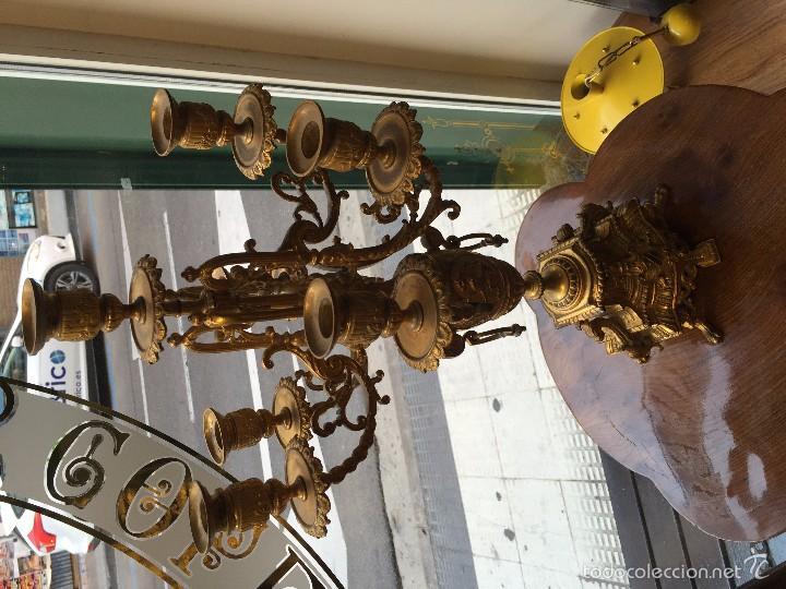Antigüedades: CANDELABRO SIGLO XIX BRONCE - Foto 5 - 61017611