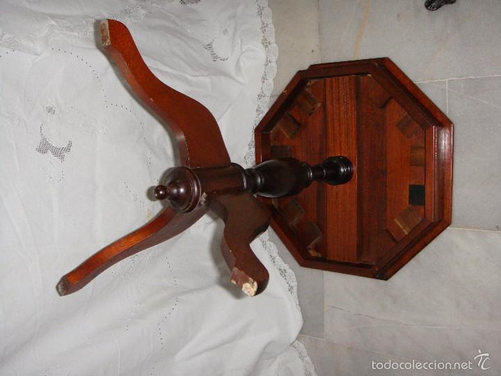 Antigüedades: Mesa Velador Octogonal. Caoba Maciza. - Foto 4 - 61023335