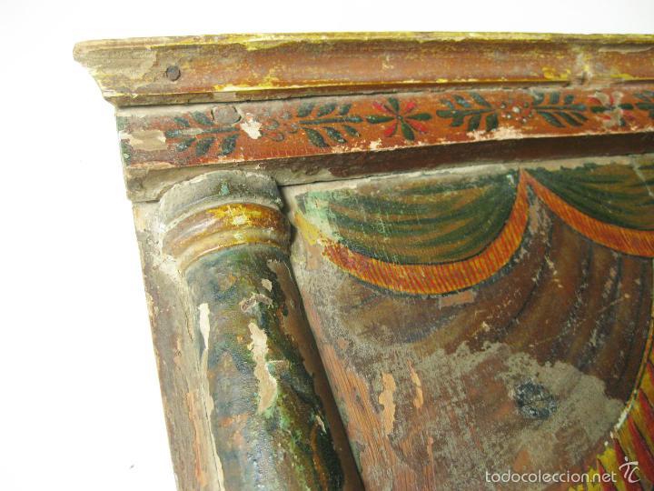 Antigüedades: PARTE DE UN RETABLO POPULAR DEL SIGLO XIX CON UN CRISTO YACENTE Y LA CORONA DE ESPINAS - Foto 5 - 61068951