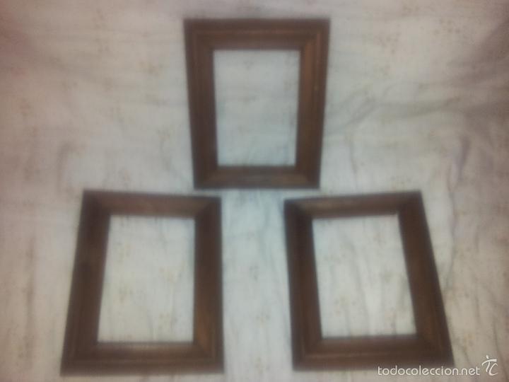 3 pequeños marcos iguales de madera noble-miden - Comprar Marcos ...
