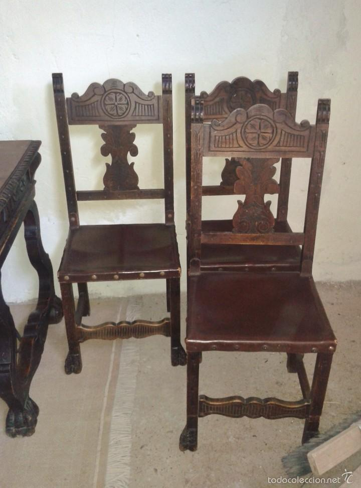 Mesa de despacho antigua fiadores estilo renaci comprar - Mesas de escritorio antiguas ...