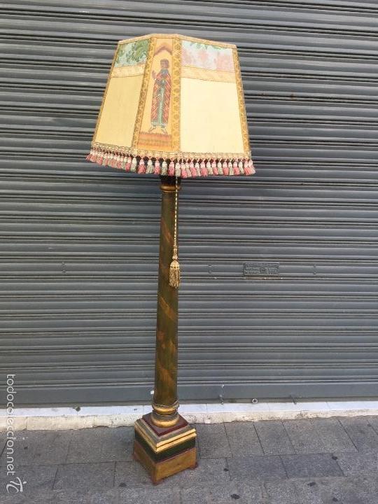 LAMPARA DE PIE. (Antigüedades - Iluminación - Lámparas Antiguas)