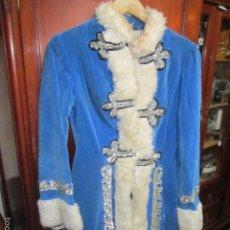 Antigüedades: ANTIGUA CASACA FANTASÍA DE TERCIOPELO AZUL, PARA ESPECTÁCULO. T- 38-40. Lote 61090651