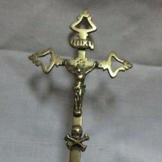 Antigüedades: CRUCIFIJO - ANTIGUO CRISTO DE SOBREMESA EN BRONCE . Lote 61095083