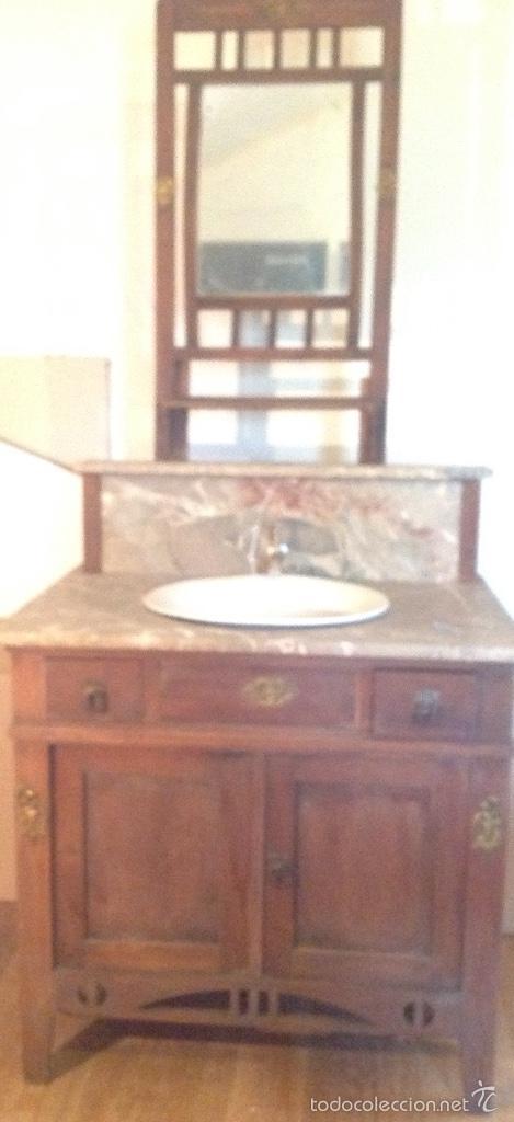 mueble lavabo antiguo completo todo original comprar