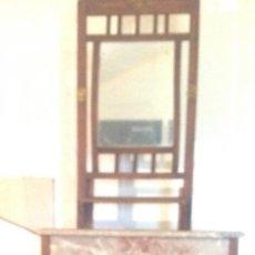 Antigüedades: MUEBLE LAVABO ANTIGUO. COMPLETO. TODO ORIGINAL. Lote 61128271