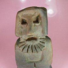 Antigüedades: ANTIGUA FIGURA FRAILE ARCILLA-CERÁMICA DE BUÑO-APARICIO-20X10X10-PERFECTA-VER FOTOS.. Lote 61140543