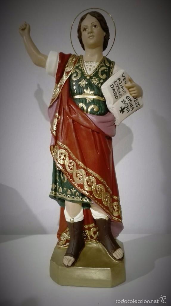 FIGURA DE SAN PANCRACIO DE OLOT (Antigüedades - Religiosas - Varios)