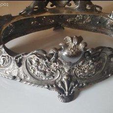Antigüedades: CENTRO MESA BAÑO DE PLATA. Lote 41250404