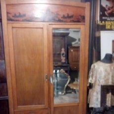 Antigüedades: ARMARIO DECO CON PINTURA AL FUEGO. Lote 61175167