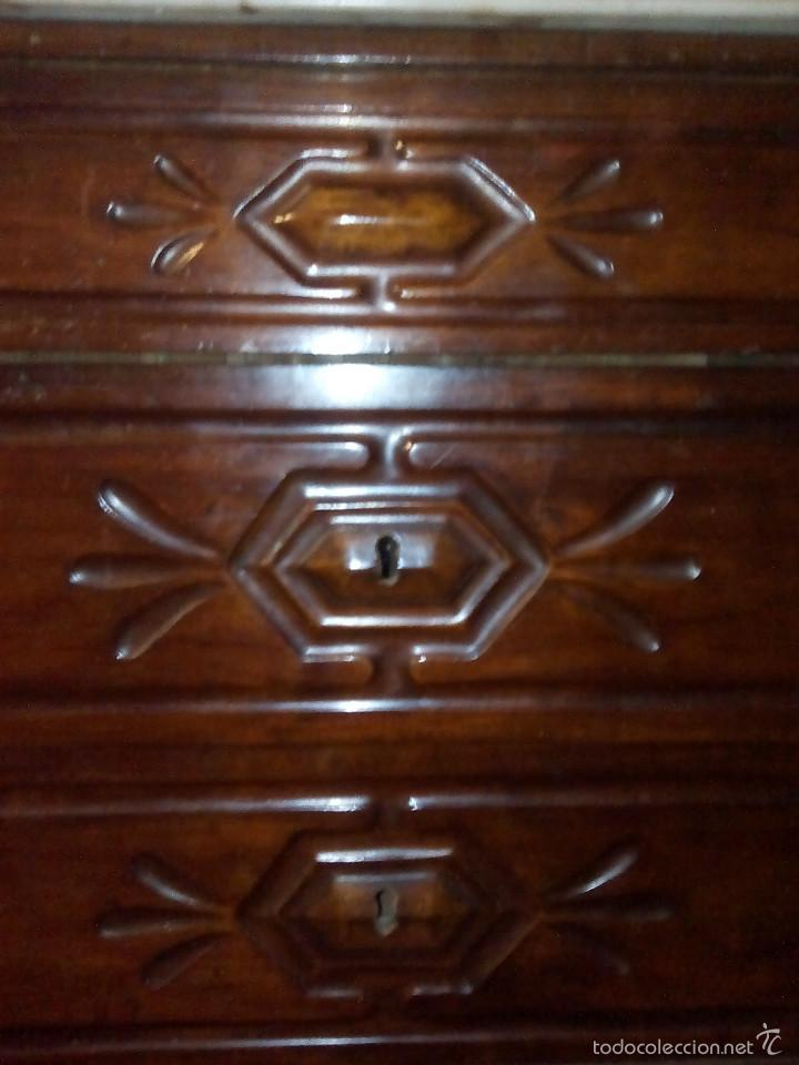 Antigüedades: Comoda de caoba Isabelina - Foto 3 - 61175327