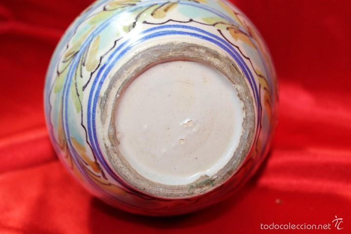 Antigüedades: JARRA CERAMICA TRIANA S.XIX - Foto 6 - 61179235