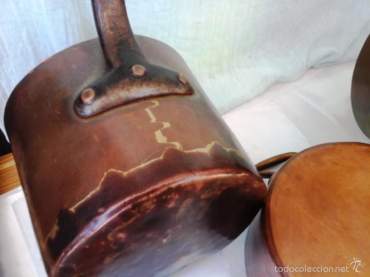 conjunto cocina cobre. cazos + olla. mucha cali - Comprar Utensilios ...