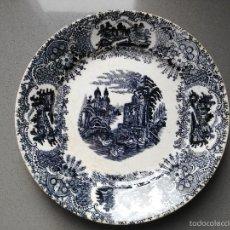 Antigüedades: PLATO PLANO CARTUJA PICKMAN SERIE VISTAS. Lote 61193167