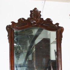 Antigüedades: CONJUNTO DE CONSOLA Y ESPEJO ESTILO ISABELINO EN MADERA DE CHICARANDA. SIGLO XIX.. Lote 61247903