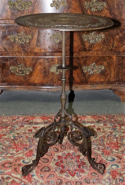 Antigüedades: MESA VELADOR. ESTILO ROMANO. HIERRO FUNDIDO. FRANCIA. SIGLO XIX. - Foto 3 - 61253015