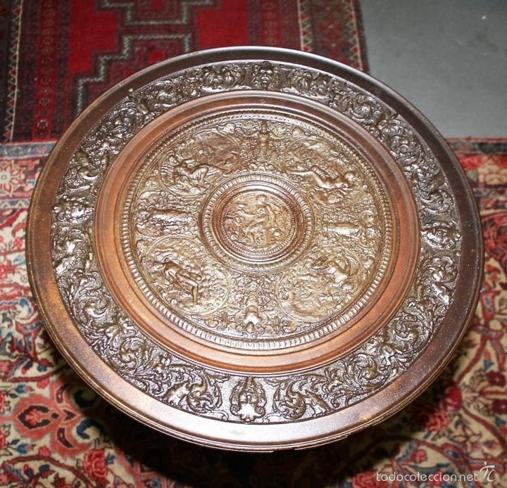 Antigüedades: MESA VELADOR. ESTILO ROMANO. HIERRO FUNDIDO. FRANCIA. SIGLO XIX. - Foto 4 - 61253015