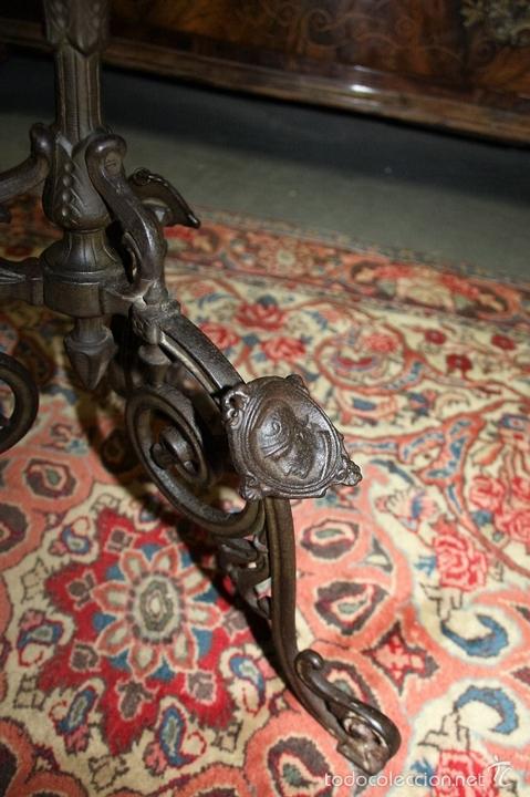 Antigüedades: MESA VELADOR. ESTILO ROMANO. HIERRO FUNDIDO. FRANCIA. SIGLO XIX. - Foto 11 - 61253015