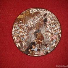 Antigüedades: PLATO SAN FERMINES DE CERAMICAS MG ESPAÑA. Lote 61265179
