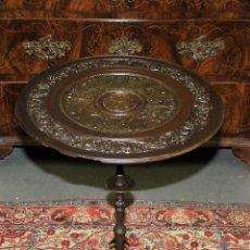 Antiquités: MESA VELADOR. ESTILO ROMANO. HIERRO FUNDIDO. FRANCIA. SIGLO XIX.. Lote 61253015