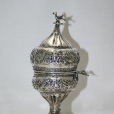 Antigüedades: INCENSARIO OTOMANO. PLATA DE LEY REPUJADA A MANO. SIGLO XVIII-XIX.. Lote 46059511