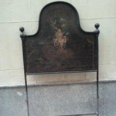 Antigüedades: CABECERO ISABELINO DE HIERRO, SIGLO XIX.. Lote 61295259
