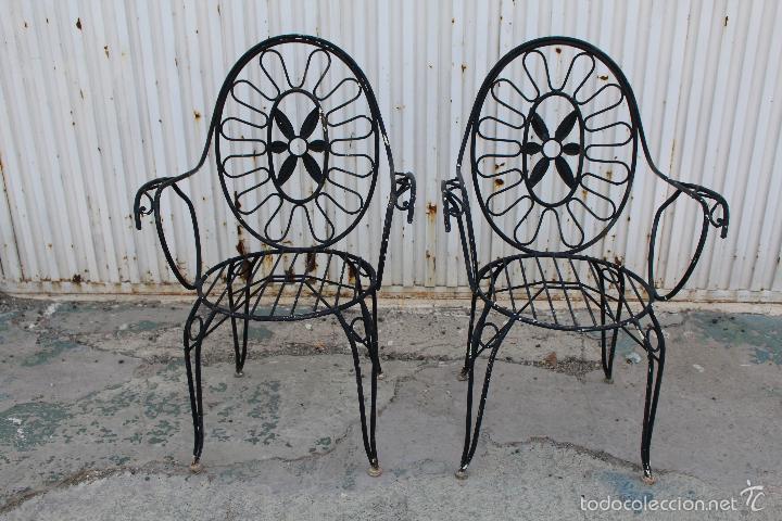 2 sillones sillas de jardin en hierro hueco pin comprar for Sillas de jardin de hierro